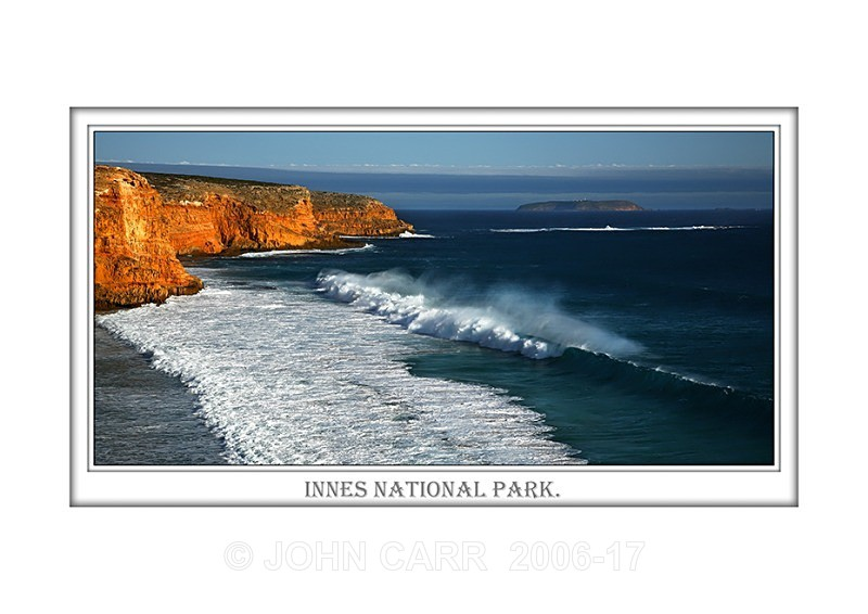 Beautiful Wall Art print  with a Border, showing Surf Waves breaking over Ethel Beach, South Australia.