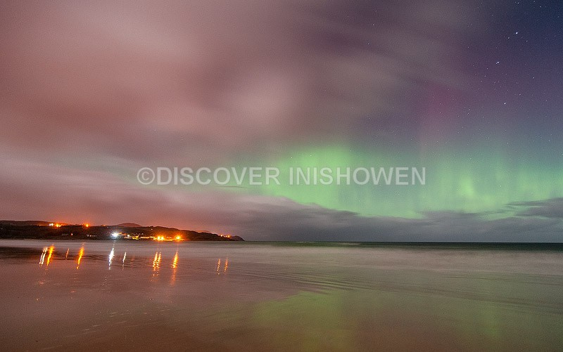 Culdaff beach - Aurora Borealis (Northern Lights)