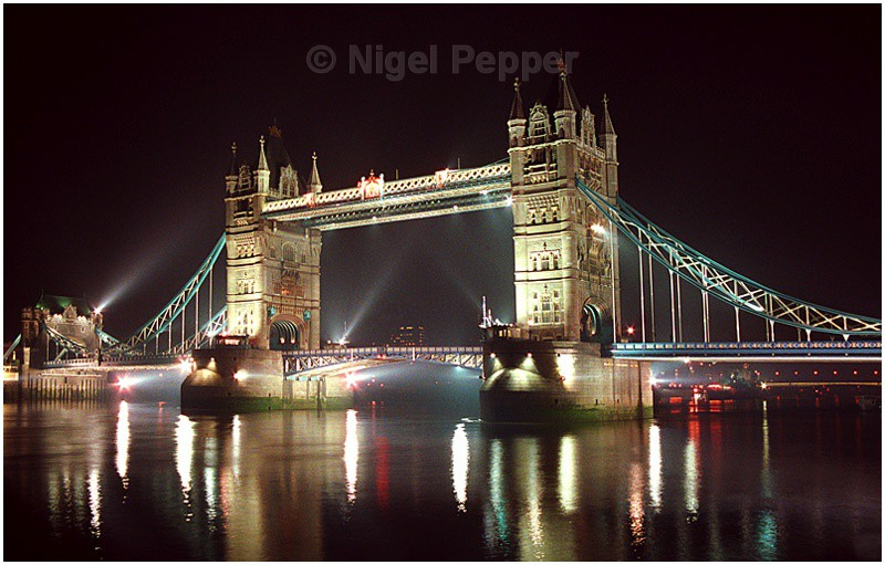 Tower Bridge at Night - Dramatic Weather