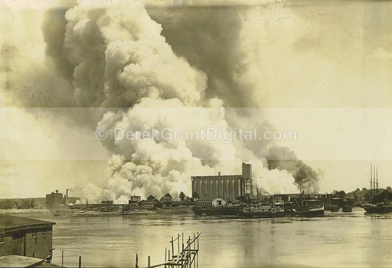 Waterfront Fire West Saint John June 22 1931 New Brunswick - Historic New Brunswick