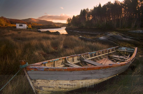 Morning Light On Boat, Glengarriff, Co. Cork, Ireland.