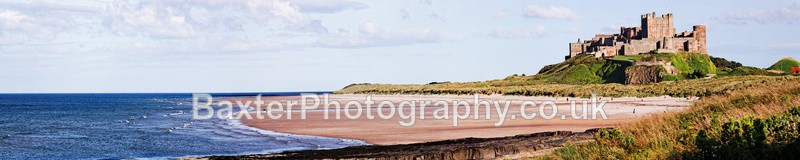 From Sea To Shore, Bamburgh Castle (5'x1' Panoramic) - Northumberland