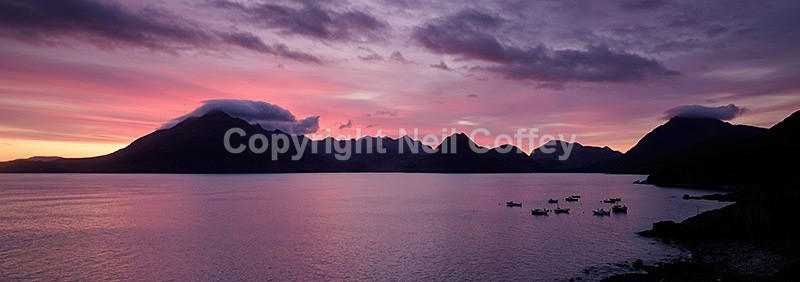 The Cuillin hills across Loch Scavaig, Isle of Skye2 - Panoramic format