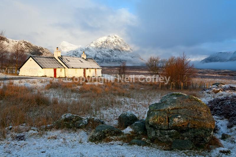 Blackrock Cottage & Buachaille Etive Mor, Highland - Landscape format