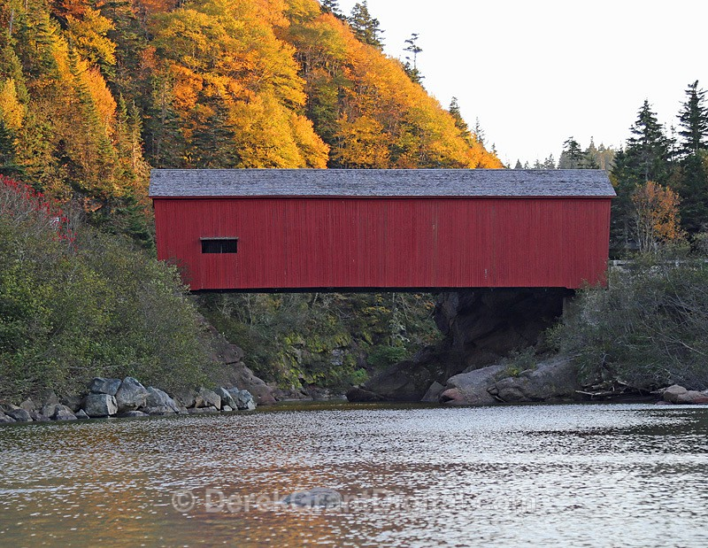 New Brunswick Autumn Foliage - Point Wolfe Covered Bridge - New Brunswick Autumn Foliage