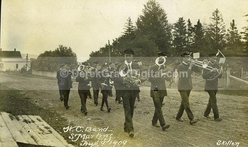 HC Band St. Martins New Brunswick Canada 1909 - Historic New Brunswick