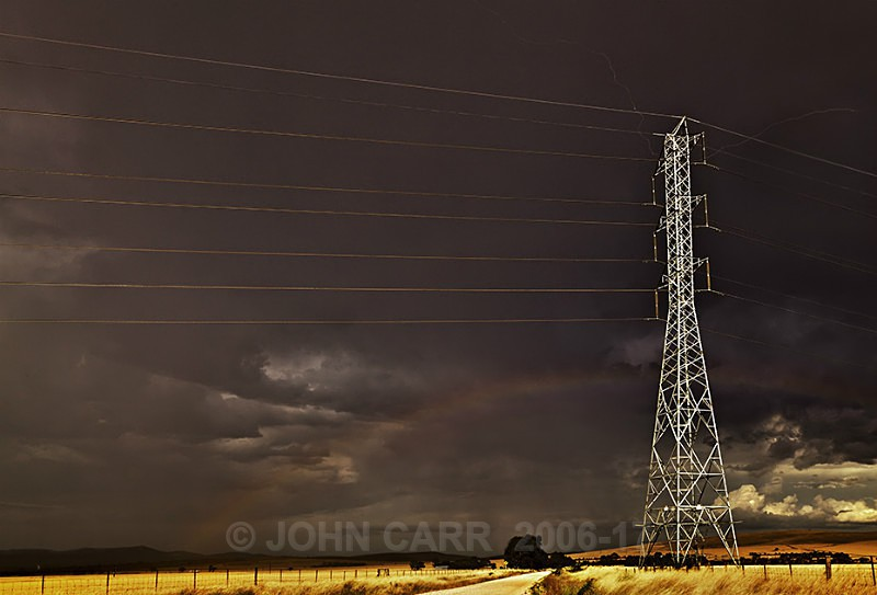Tower Lightning & Rainbow-3200-199-HDR - A STORMY MONDAY & FRIDAY-NOVEMBER 2012