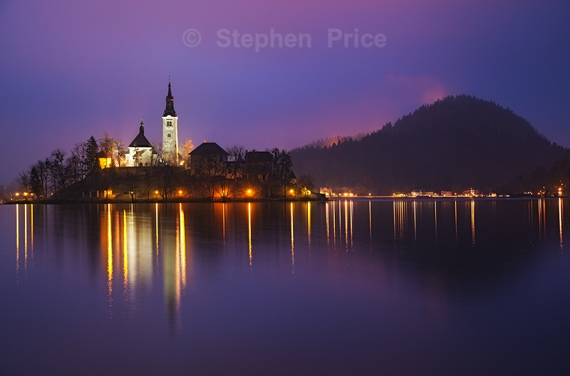 Lake Bled Slovenia Before Dawn | Predawn Lake Reflections
