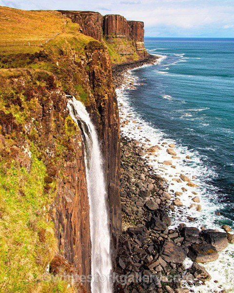 Coastal Waterfall, Isle of Skye - Scottish Highlands
