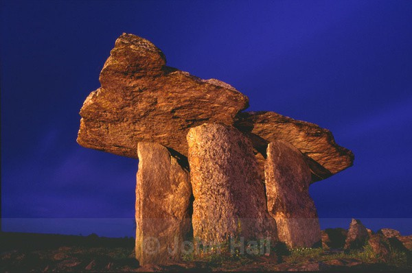 light painting of poulnabrone dolmen,the burren,co.clare,ireland.