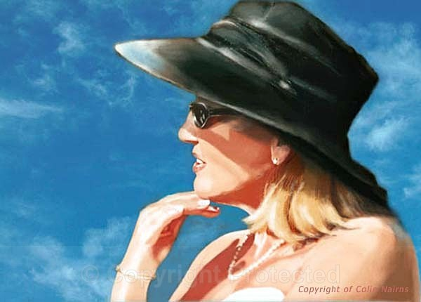 'Patricia with the black hat' - Portraits and figurative work