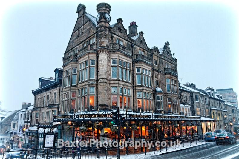 Bettys Tea Rooms in the Snow - Harrogate Town