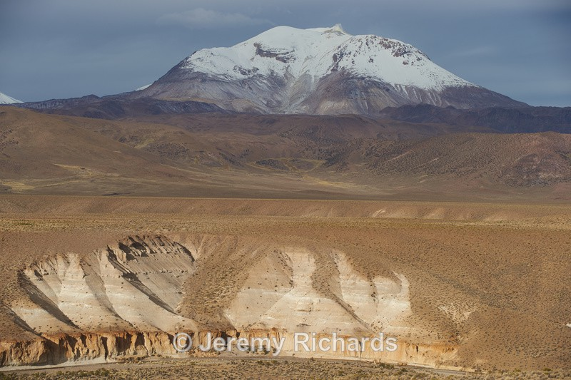 Active Volcano on the Altiplano - Altiplano of North-East Chile