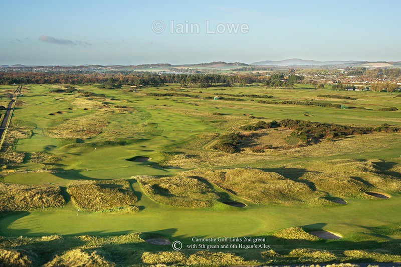 Carnoustie 2nd green - Scottish Links Aerial Images