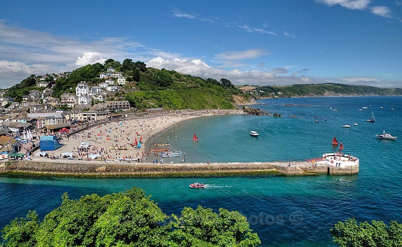 LO 65 Busy day at Looe - Greetings Cards Looe