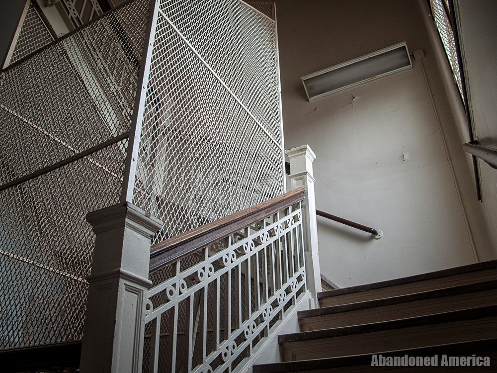 Overbrook Asylum (Cedar Grove, NJ) | Suicide-Proof Stairwell - The Essex County Hospital Center