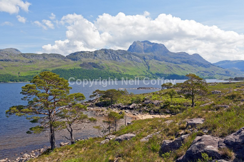 Slioch across Loch Maree, Highland - Landscape format