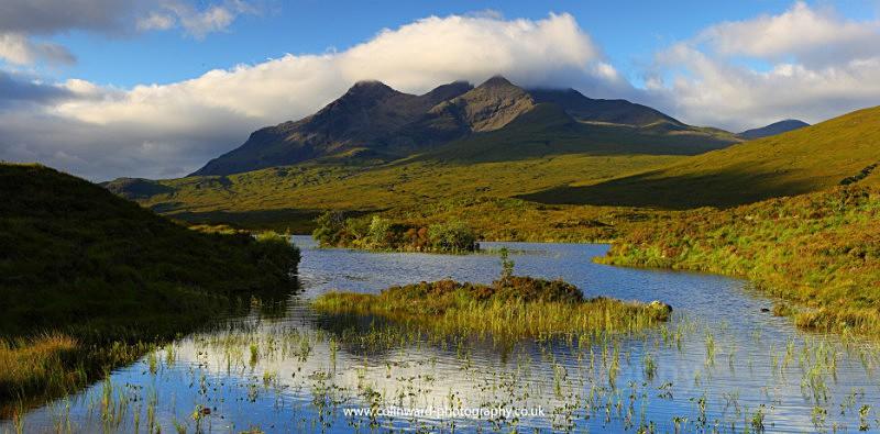 Cuillin Mountains from Loch Nan Eilean. - West Highlands