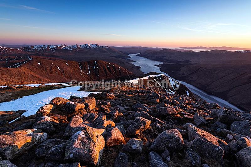 Ben Cruachan, Loch Etive & the Isle of Mull from Ben Starav, Highland2 - Landscape format