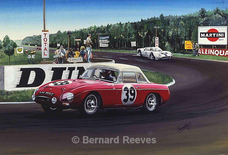 MGB at Le Mans - Classic cars