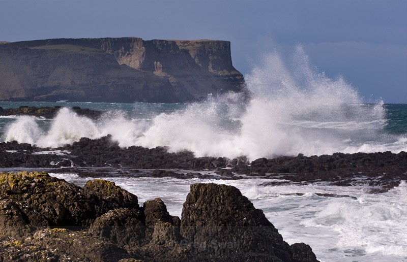 Storm waves - Causeway Coastal Route (Storms and Rainbows)