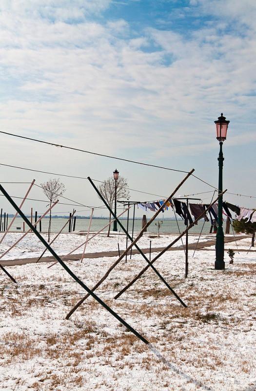 Burano - washing poles - Venice
