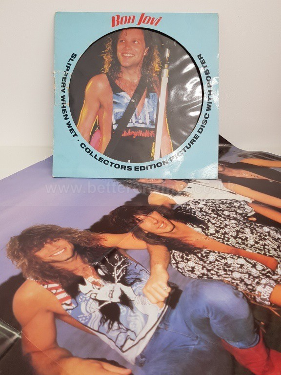 BON JOVI, slippery when wet, VERHP-38 (832 467-1), 12 - SINGLES all genres, Including PICTURE DISCS, DIE-CUT, 7