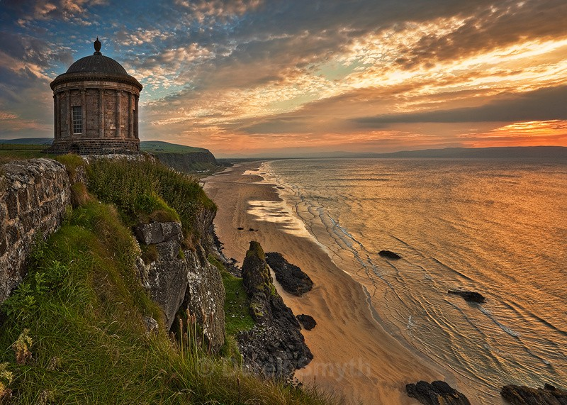 Mussenden Temple Sunset - Co. Derry / Londonderry