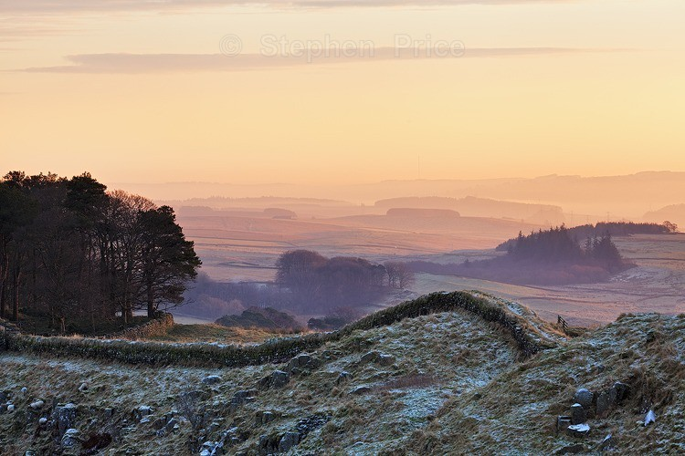 Hadrians Wall at Sunrise | Northumbria Photography