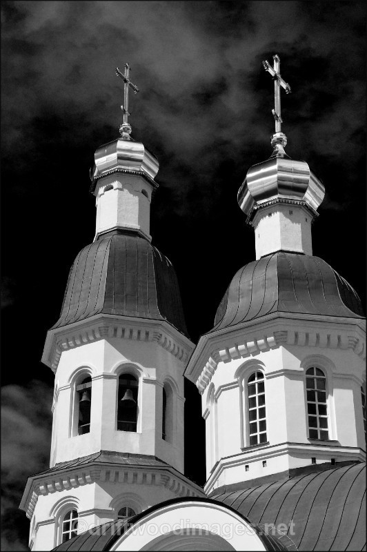 Archangel two spires bw   - Archangel, Russia