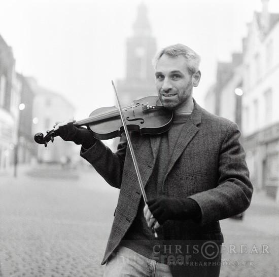 Fiddle Player - Black & White