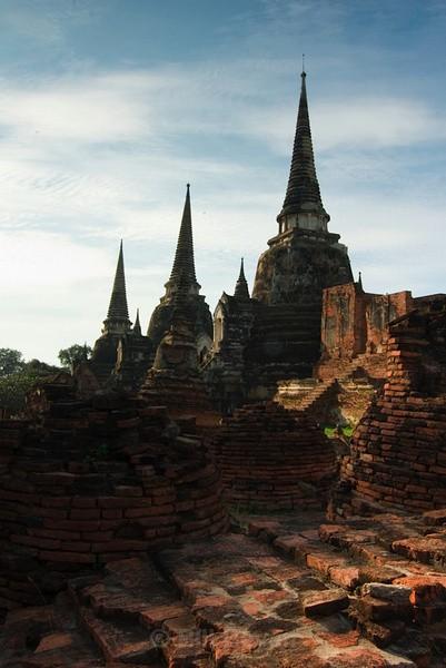 Three Chedis - Ayutthaya