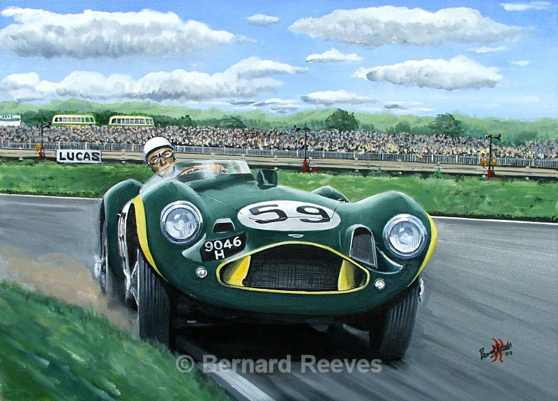Stirling Moss Aston Martin DB3S Goodwood 1956 - Classic cars