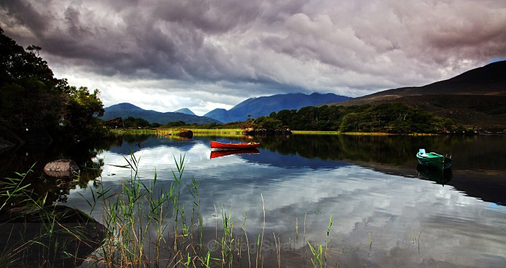 Lake Reflection - Landscapes of Ireland - Kerry Lakes and Mountains