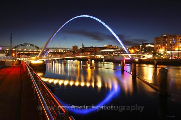 Millenium Bridge at dusk - Tyne and Wear