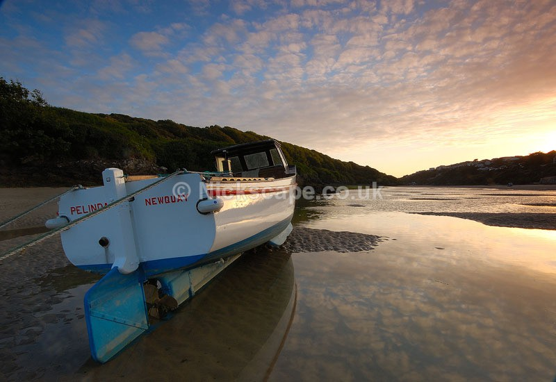 Fishing Boat in the Gannel Estuary | Crantock Newquay Gallery | Cornwall Photography