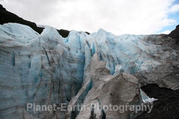 Moving Ice field - Alaska & Canada