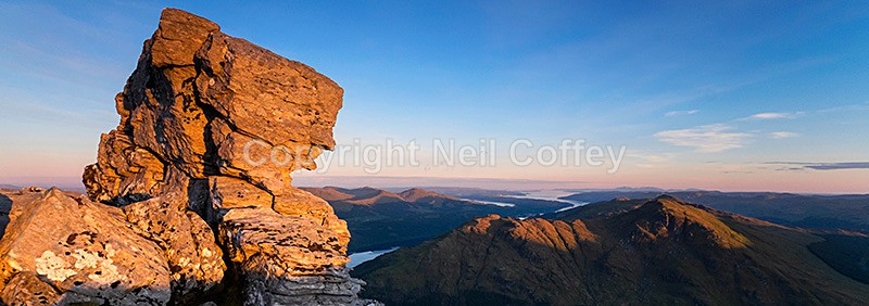 Loch Long and The Firth of Clyde from The Cobbler, Argyll & Bute - Panoramic format