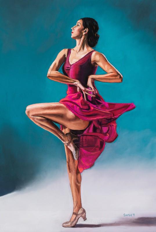Pink Flamenco - Paintings