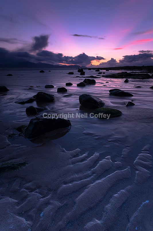 Isle of Arran from Seamill, North Ayrshire2 - Portrait format