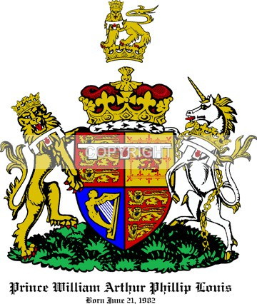 Prince William of Cambridge - Heritage Family Name and Coat of Arms Store