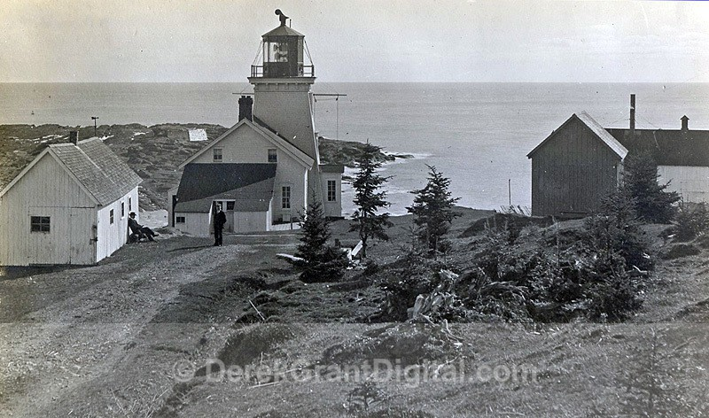 Quaco Head Lighthouse Keeper Bay of Fundy St. Martins Charles Brown - Historic New Brunswick