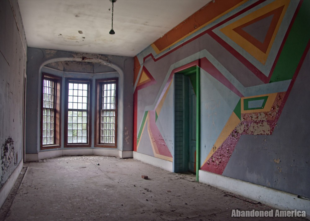 Painted hallway, Taunton State Hospital