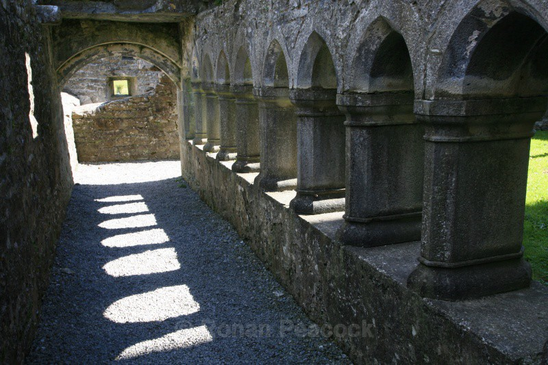 Ross Errily Friary Cloister - Ruins and Not So Ruined