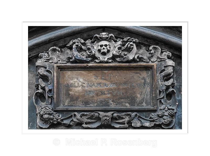 Details, Weathered Memorial, St. Giles Cathedral Edinburgh Scotl - Scotland, UK