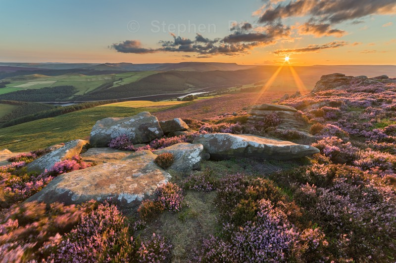 Derwent Edge Sunset | Peak District Heather Photography