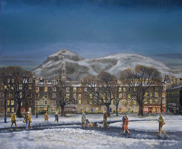 The Meadows & Arthur Seat, Edinburgh - Edinburgh Paintings