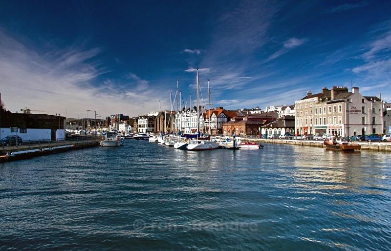 High tide in Douglas harbour - Life on Man