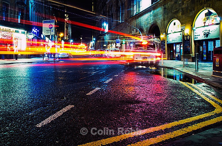 Light trails photograph | taxi | Hope Street Glasgow | by Colin Robb