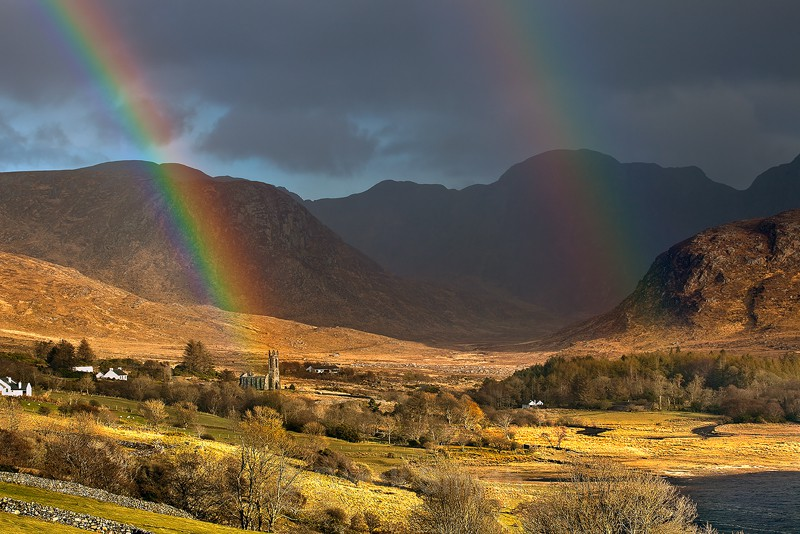 Double Rainbow over Poison Glen - Dunlewy Church Ruin